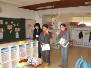 生徒の挨拶する県議団